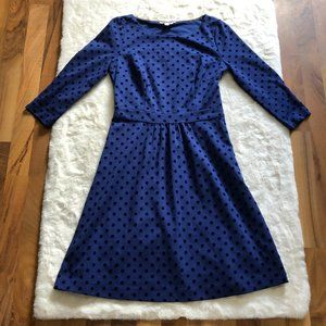 Boden polka dot dress 3/4 length sleeve dress Size 6